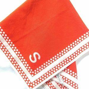 RARE Vintage Baar & Beards Monogram S Scarf-Red